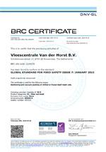 BRC CERTIFICAAT 2018